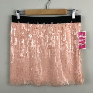 Candie's Peach Sequin Mini Skirt